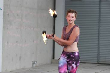 Fire Poi at Dream Out Loud by Natalie Westerbeek