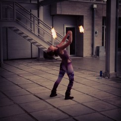 Fire Poi at Dream Out Loud by Apryl Dawn
