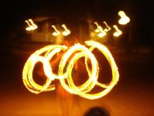 Fire Poi in Runaway Bay Jamaica by Stacey